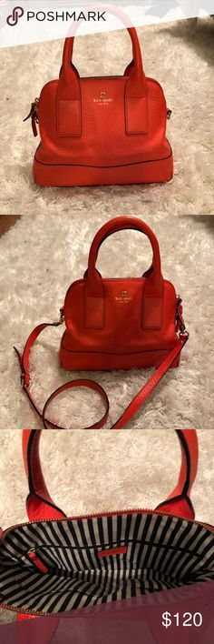 Kate Spade red leather purse Kate Spade handbag - red- that can be converted to crossbody. In perfect condition kate spade Bags Shoulder Bags