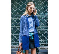 Street Looks à la Fashion Week printemps-été 2015 de New York, Londres, Milan et Paris http://www.vogue.fr/mode/inspirations/diaporama/street-looks-denim-a-la-fashion-week-printemps-ete-2015-de-new-york-londres-milan-et-paris/20667