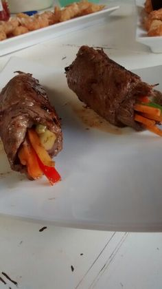 Rollo de carne y vegetales