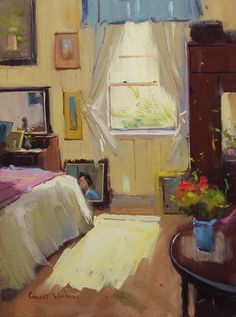 Oil painting art videos on how to paint landscapes and interiors scenes from Colley Whisson, a internationally acclaimed artist and workshop teacher. Open Window, Window Art, Interior Paint, Room Interior, Cottage Art, Room Paint, Contemporary Paintings, Painting Inspiration, Windows