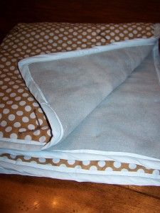 sewing a Fleece and Cotton Baby Blanket