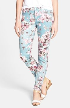 7 For All Mankind® Floral Print Skinny Ankle Jeans (Victorian Floral) | Pretty Little Liars
