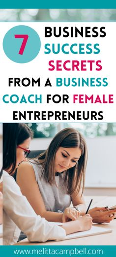 7 Business Success Secrets from a Business Coach for Female Entrepreneurs & Women With a Small Biz. Expert advice tips & secrets from successful girl boss & business coach Melitta Campbell. Teaching you the things you didn't know about starting a business, how to start a small business from home, the things I wish I knew before starting a business. How to attract more people to your brand. How to succeed in your small home business for women mompreneurs Business Coaching, Small Business Marketing, Business Entrepreneur, Business Opportunities, Business Tips, Online Business, Craft Business, Small Business From Home, Strategic Marketing Plan