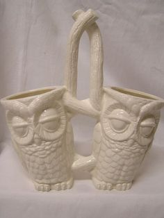 Your place to buy and sell all things handmade Kitchen Caddy, Kitchen Ware, Owl Kitchen Decor, Kitchen Ideas, Tootsie Pops, Lovers Art, Owls, Brushes, Centerpiece