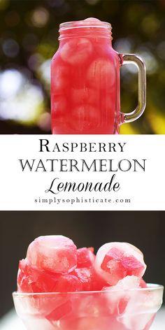 Raspberry Watermelon Lemonade