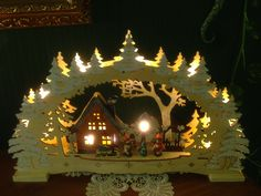 Lichterbogen Lichtbogen Kerzenbogen Weihnachtsdeko ATLE grau 40cm mit 5 Birnen