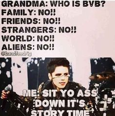 Black Veil Brides. The truth of life :3