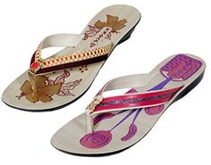 Indistar Womens Krocs Flip Flop Pack Of 2 Pairs 8 YellowPink >>> See this great product.(This is an Amazon affiliate link)