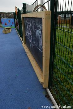 Another source of outdoor fun and creativity for young and old alike.  Community Chalkboards