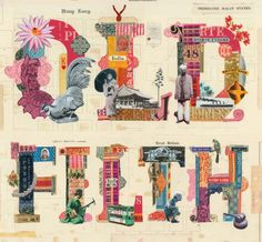 Old Filth | Book Jacket , Cut It Out ; collaged type by Martin O'Neill #typography #book_cover