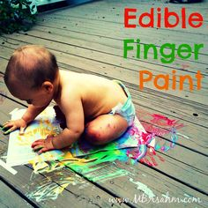 Edible Finger Paint for a Safe and Fun Toddler Activity