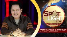 Watch another episode of Pastor Apollo C. Quiboloy's newest program, SPOTLIGHT. For your messages and queries, you can comment it down below so our Beloved P. Disciple Me, Kingdom Of Heaven, New Program, T Lights, February 10, Great Leaders, Son Of God, Lessons Learned, Jerusalem