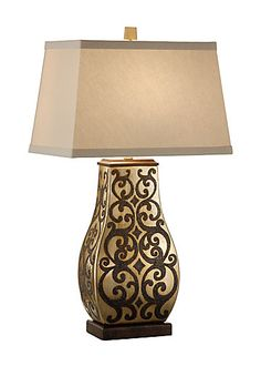 PAIRED SERAPHS LAMP