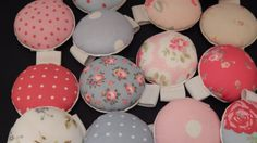 HAND MADE WRIST PIN CUSHIONS MADE OUT OF CATH KIDSTON MATERIAL    THESE ARE GREAT BECAUSE THEY HAVE SOLID BOTTOMS TO