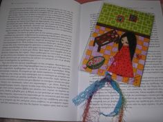 The Heart Maker  Mixed media art laminated bookmark by eltsamp, $10.00