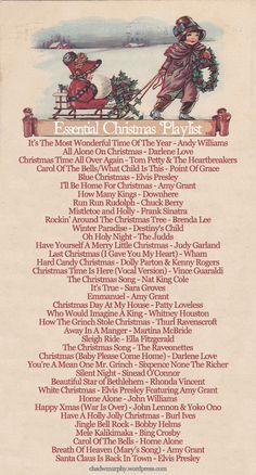 Christmas playlist Essential Christmas playlist Essential Christmas playlist Christmas love songs — get the Spotify playlist here! Christmas Time Is Here, Christmas Mood, Noel Christmas, Merry Little Christmas, Vintage Christmas, Holiday Fun, Christmas Movies, Christmas Song List, Christmas Things To Do