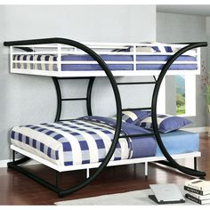 This bed  features a bold geometric silhouette kids of all ages will love.