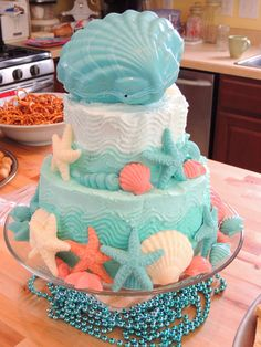 """My version of the """"under the sea"""" cake"""