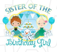 Sister of the birthday girl Frozen Fever INSTANT DOWNLOAD digital clip art DIY for shirt :: My Heart Has Ears