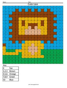 Cute Lion- Addition 1-10