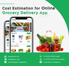 Goyal's answer to How much does it cost to develop an online grocery delivery app? Grocery Shopping App, Grocery Ads, Supermarket App, Food Brand Logos, Grocery Delivery App, Cloud Kitchen, Ecommerce App, Vegetable Shop, Fruit Packaging