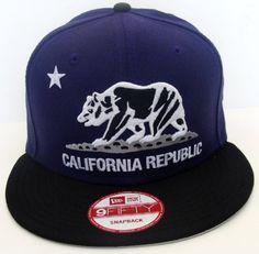 California Republic Bear New Era Retro Snapback Cap Hat 2 Tone Purple Black . $29.99. Brand new retro snapback cap. Embroidered team logos. Snapback design. One Size Fits Most.