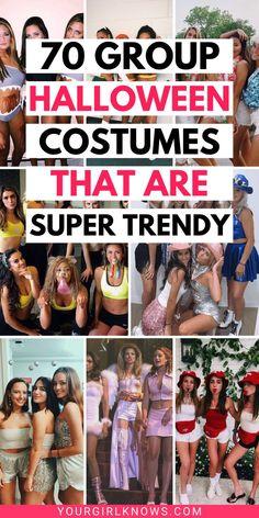 Cute Halloween Costumes For Teens, Halloween Duos, Best Friend Halloween Costumes, Scary Halloween Costumes, Costumes For 3 People, Costumes For Teenage Girl, Girl Halloween, Women Halloween, Real Quick