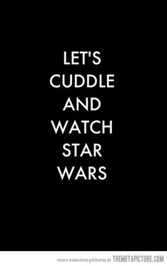 The perfect date… perfect for me, my boyfriend is a bigger star wars nerd than I. Star Wars Film, Star Wars Watch, Star Trek, My Sun And Stars, Love Stars, Sons Of Anarchy, Nerd Love, My Love, Alec Guinness