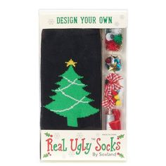 Women's Design Your Own Ugly Christmas Socks,