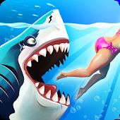 he Sharks are back in the bigger and badder sequel to Hungry Shark World with Mod APK And OBB Data for your android. Control a shark in a feeding frenzy and Megalodon, Shark S, Shark Week, Lary Over, World Generator, Shark Games, Free Gems, World Images, Great White Shark