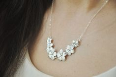 Sterling Silver Plumeria Lei Flowers Necklace  by YsmDesigns, $40.00