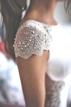 Fall In Love With These Fantastic Details Of Bridal Dresses ❤ See more: #wedding #bridal #dresses