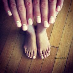 reverse manicure~halfmoon nails~ handmade nails~pastel nails