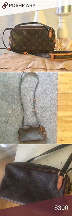 100% Authentic Louis Vuitton poucette Marley Bag 100% Authentic Louis Vuitton Pouchette Marley villiers  Crossbody/shoulder bag. Looks like new! Comes with dustbag.     Serial     Serial number:SL0928  Size in inches (approx.)W 8.6 x H 5.1 x D 1.5      Shoulder Strap Drop 24.7(max). Bundle and save 15% Louis Vuitton Bags Shoulder Bags