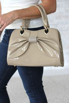 Patent Leather Bow Purse