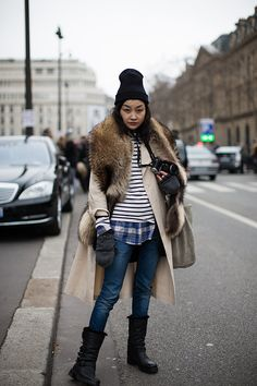 Saturday, March 2, 2013  On the Street…..After Dries Van Noten, Paris