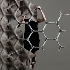 Layer uses large hemp tiles to create tesselating Scale partition system