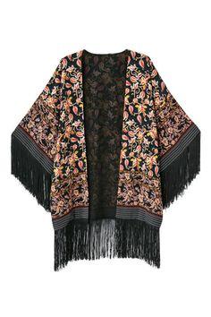 ROMWE | Tassel Open Front Kimono, The Latest Street Fashion