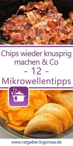 12 Küchentipps rund um die Mikrowelle Snacks, French Toast, Lifehacks, Petra, Super, Breakfast, Drying Herbs, Green Ideas, Cute Mouse
