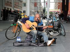 Chuck Deely, singing in The Hague, Netherlands.
