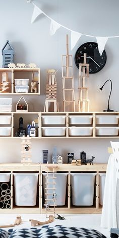 TROFAST Storage combination with boxes – white, white – IKEA - Kids playroom ideas Ikea Trofast Storage, Ikea Storage Kids, Storage For Toys, Trofast Hack, Living Room Toy Storage, Large Toy Storage, Hidden Storage, Ikea Childrens Storage, Toy Storage Furniture