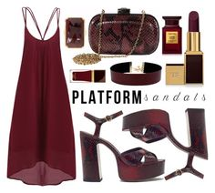 """""""Stand Up! Platform Sandals"""" by leslee-dawn ❤ liked on Polyvore featuring MCM, Vanessa Mooney, Tom Ford and Olivia Leone"""