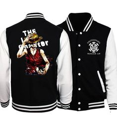 Japanese Anime One Piece Luffy Men Coat 2017 Spring New Arrival One Piece Baseball Jackets Fashion Men Tracksuit Plus Size S-5XL