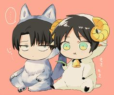 Eren and Levi so cute! shingeki no Kyojin, attack on titan, anime