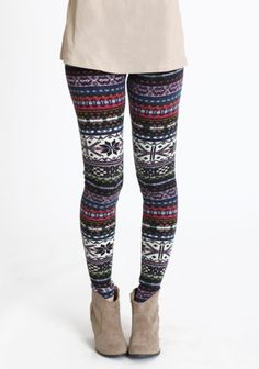 i know it's almost spring, but i would love to wear these next winter! {rustic winters knit leggings}