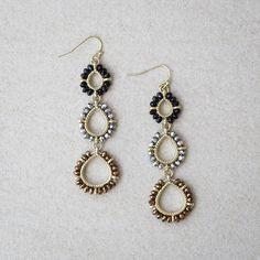 Trio Teardrop earrings