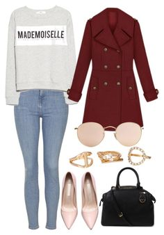 """""""Untitled #3927"""" by dudas2pinheiro ❤ liked on Polyvore featuring Mode, Topshop, MANGO, Ray-Ban, Andara, Michael Kors, women's clothing, women, female und woman"""