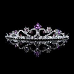 For Aria    3cm Hoch Lila Hochzeit Braut Haarschmuck Haarreif Kommunion Krone Diademe Tiara   eBay