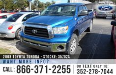2008 Toyota Tundra - Crew Cab Pickup - V8 5.7L Engine - Tinted Windows - Hitch Receiver - Bed Liner - Safety Airbags - Powered Windows/Locks/Mirrors - Seats 6 - AM/FM/CD/MP3 - iPod/Aux Port - Cruise Control - Remote Keyless Entry - Alloy Wheels - Outside Temerature Display and more!