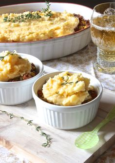 Cheddar Shepard's Pie.  I love Shepard's pie.  Can't wait until fall to make it.